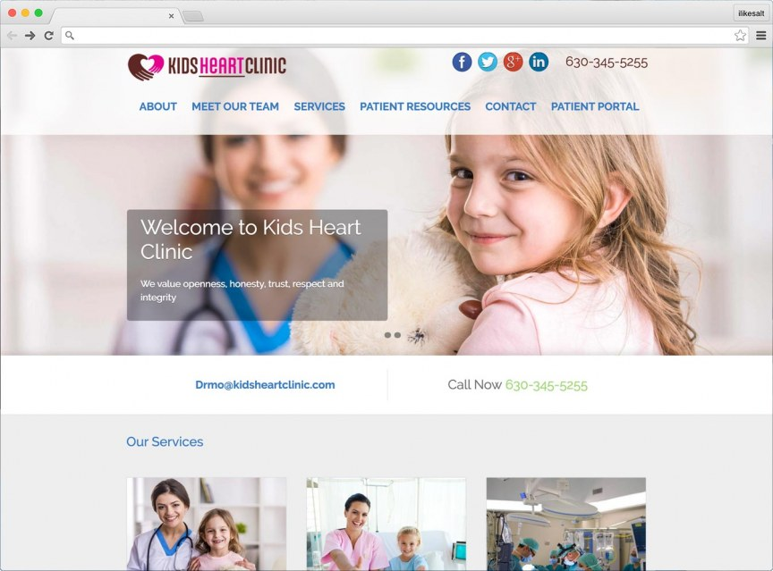Kids Heart Clinic Website