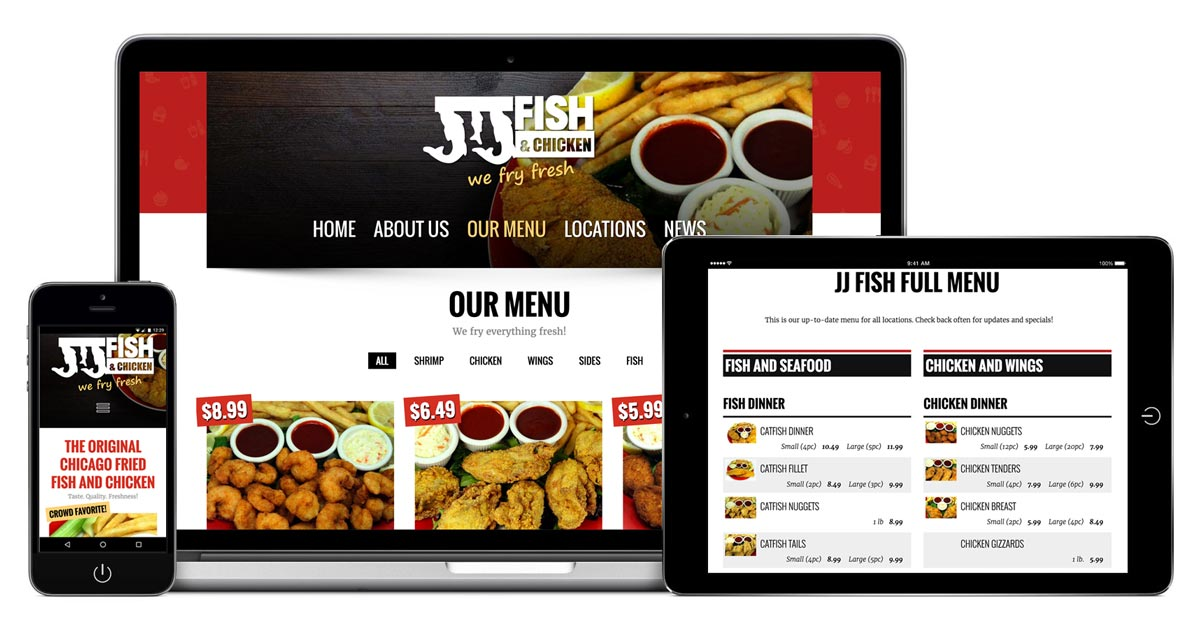 JJ Fish & Chicken WI - Redesign