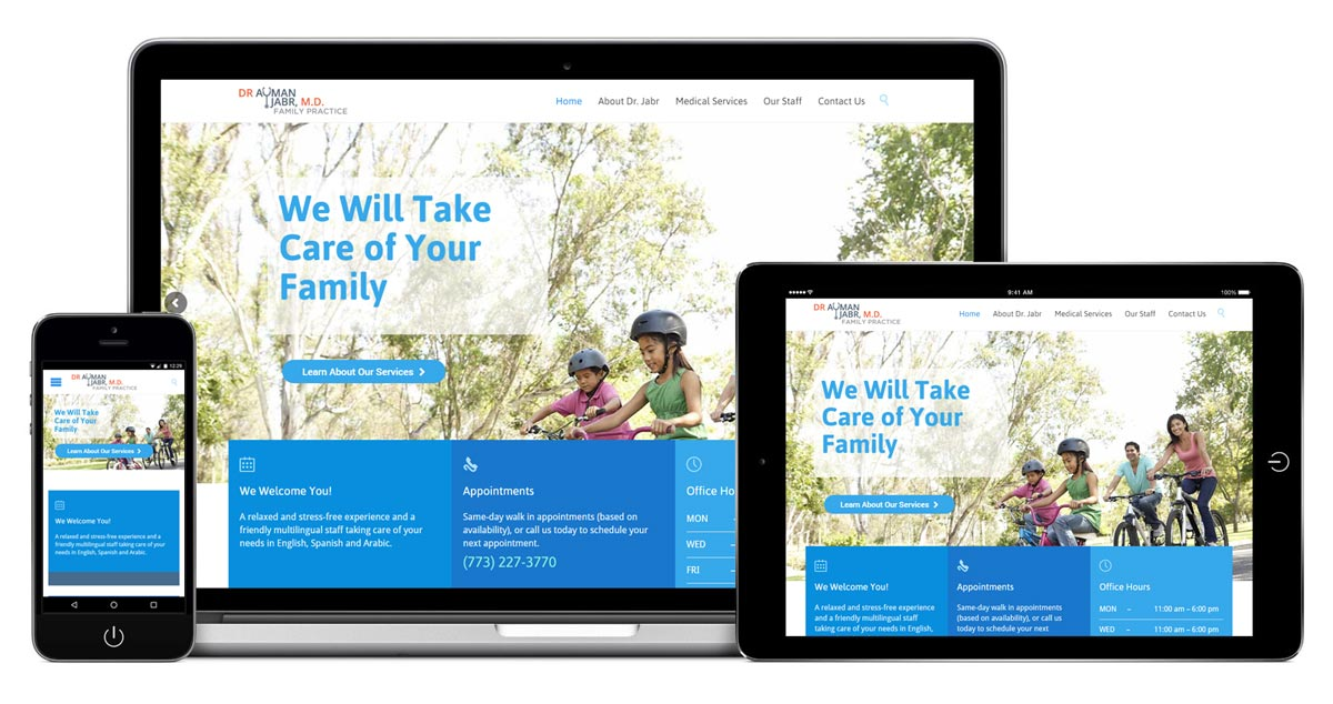 Dr Jabr Family Practice Website - Redesign