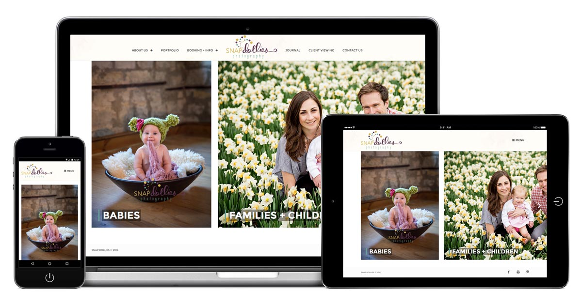 Snap Dollies Photography Website - Redesign